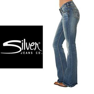 Silver Cinder Flare Jeans - 31x32